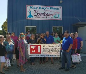 53d4fc428a0 Join the Greater Marshall Chamber of Commerce as we welcome Kay Oney and  Kay Kay s Place Boutique to our Chamber with her Grand Opening and Ribbon  Cutting ...